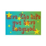 Live The Life Rectangle Magnet (100 pack)