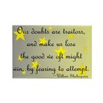 Doubts Are Traitors Rectangle Magnet (10 pack)