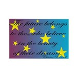 The Future Belongs Rectangle Magnet (100 pack)