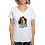 Wise Latina Women's V-Neck T-Shirt