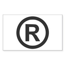 Registered Rectangle Decal