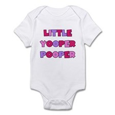 Pink Little Yooper Pooper Infant Bodysuit
