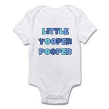 Blue Little Yooper Pooper Infant Bodysuit