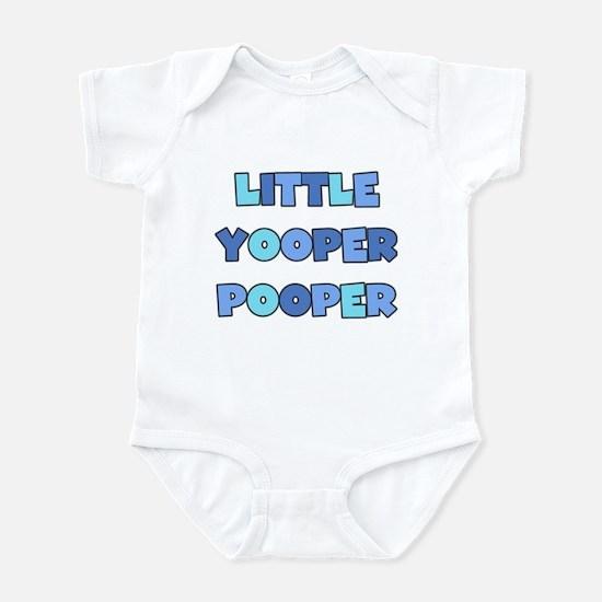 Blue Little Yooper Pooper Infant Bodysuit