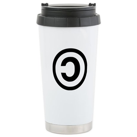 Copyleft Stainless Steel Travel Mug