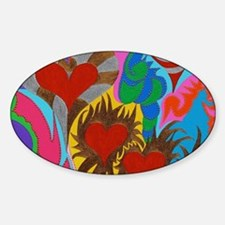 Hearts on Fire Oval Decal