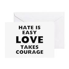 Hate Love Greeting Card