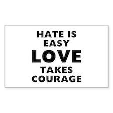 Hate Love Bumper Stickers