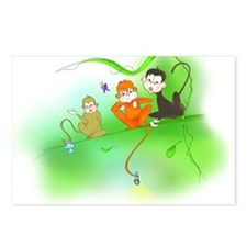 Cute Monkey trio Postcards (Package of 8)