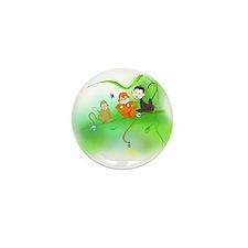 Cute Monkey trio Mini Button (10 pack)