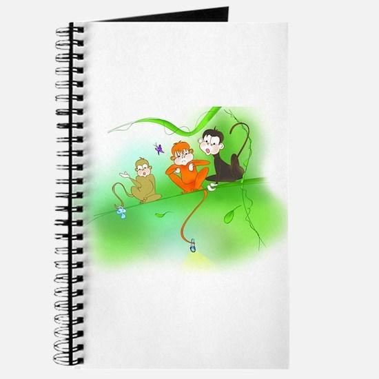 Cute Monkey trio Journal