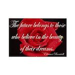 The Future Belongs Flower Rectangle Magnet (100 pa