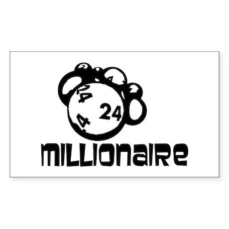 Millionaire Rectangle Sticker