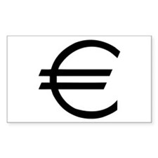 Euro - Money Rectangle Decal