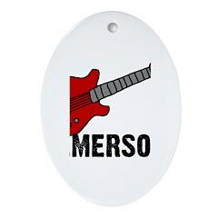 Guitar - Emerson Oval Ornament