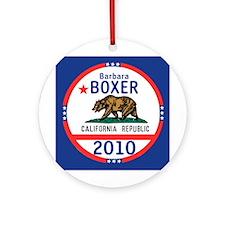 Barbara Boxer Ornament (Round)