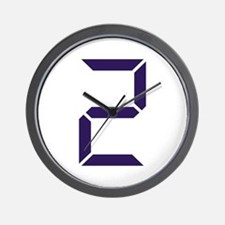 Number - Two - 2 Wall Clock