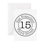 Circles 15 Third Street Greeting Cards (Pk of 20)