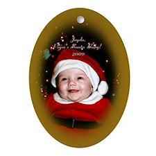 Cute Jayda Oval Ornament
