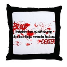 Dexter Blood Throw Pillow