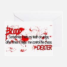 Dexter Blood Greeting Card