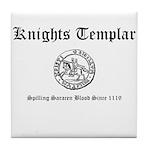 Knights Templar Saracen Blood Tile Coaster