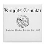 Knights Templar Pilgrims Tile Coaster