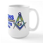 Masonic with bricks Large Mug