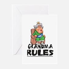 GRANDMA RULES  Greeting Cards (Pk of 10)