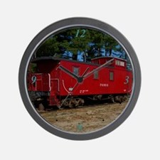 Red & Orange Caboose Wall Clock