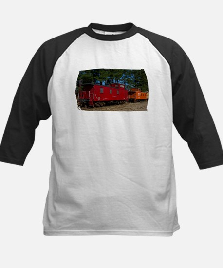 Red & Orange Caboose Kids Baseball Jersey