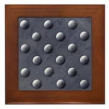 Metal Bumps Framed Tile