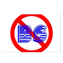 No BS (version2) Postcards (Package of 8)