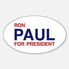 Paul for President Oval Decal