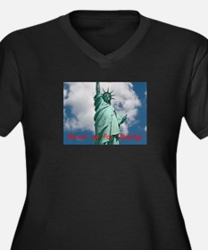 Stand up for Liberty! Women's Plus Size V-Neck Dar