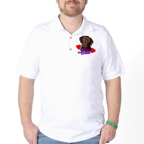 chocolate lover lab Golf Shirt
