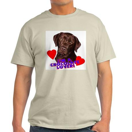 chocolate lover lab Ash Grey T-Shirt