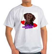 chocolate lover lab Ash Grey T-Shirt