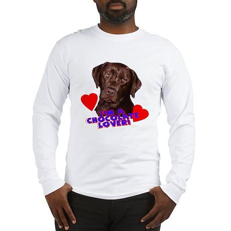 chocolate lover lab Long Sleeve T-Shirt