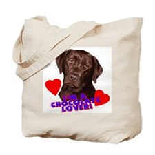 chocolate lover lab Tote Bag