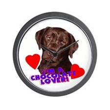 chocolate lover lab Wall Clock