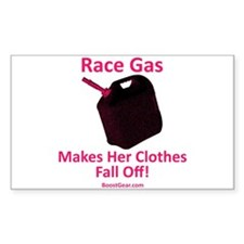 Race Gas Makes Her Clothes - Rectangle Decal