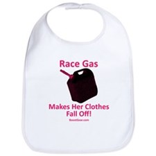 Race Gas Makes Her Clothes Fall Off - Baby Bib