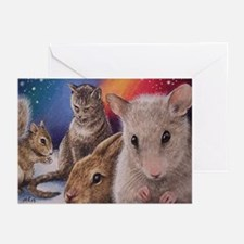 Cute Mouse Art Greeting Cards (Pk of 10)