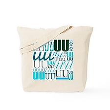 UU Typography (Aqua) Tote Bag