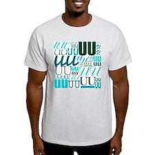 UU Typography (Aqua) T-Shirt