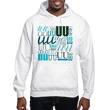 UU Typography (Aqua) Hoodie