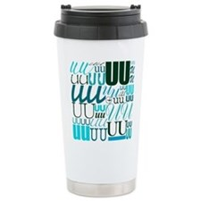 UU Typography (Aqua) Travel Mug