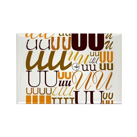 UU Typography (Autumn) Rectangle Magnet (10 pack)