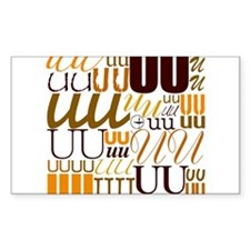 UU Typography (Autumn) Rectangle Sticker 10 pk)